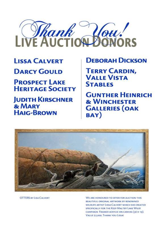 live auction thanks